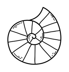 Cute snail shell icon vector