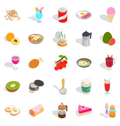 Dainty icons set isometric style vector