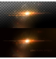 Digital lens flare effect vector image