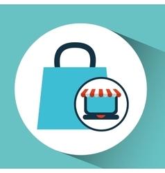 E-commerce concept bag gift cart vector