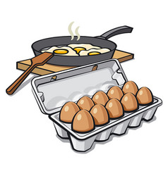 Eggs packaging vector