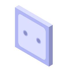 Electric socket icon isometric style vector