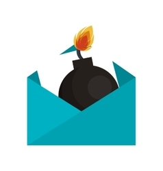 Envelope letter spam isolated icon vector