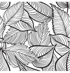 floral seamless pattern leaves background nature vector image