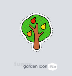 fruit tree flat icon vector image