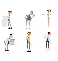 funny characters in action vector image
