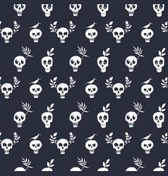 Funny skull regular polka dot pattern vector