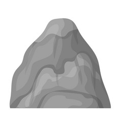 gray stone mountain a mountain in which mined vector image
