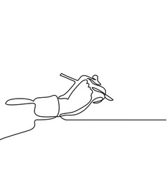 Hand with pen vector
