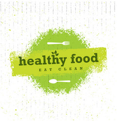 healthy food organic paleo style rough vector image