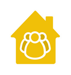 Housing cooperative glyph color icon vector