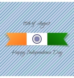 India Independence Day textile Label vector