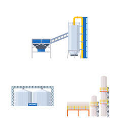 Isolated object industry and building icon set vector