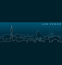 las vegas multiple lines skyline and landmarks vector image