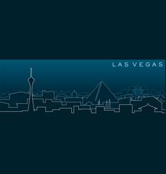 Las vegas multiple lines skyline and landmarks vector