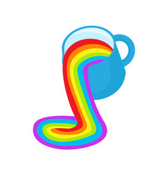 lgbt rainbow symbol icon rainbow fluid pours out vector image