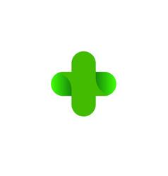 logo cross health logo vector image