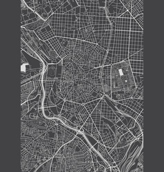 Madrid city plan detailed map vector