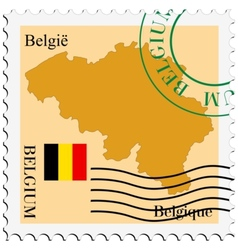 Mail to-from Belgium vector