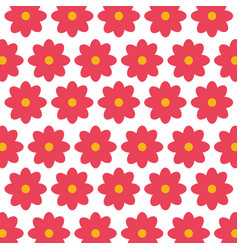 mexican decorative flowers pattern vector image