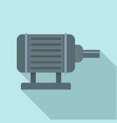 Motor pump irrigation icon flat style vector