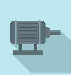 motor pump irrigation icon flat style vector image