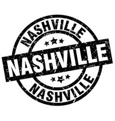 Nashville black round grunge stamp vector