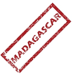 New madagascar rubber stamp vector