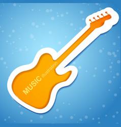 Orange guitar background vector