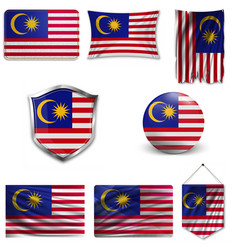 Original and simple malaysia flag isolated vector