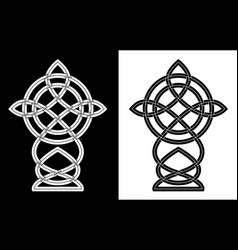 ornamental cross in the celtic style vector image