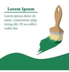 Paint brush of repairman cartoon background vector