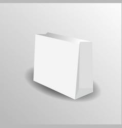 Paper bag mock up template vector