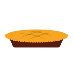 pie delicious tanksgiving isolated icon vector image