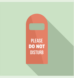 Please do not disturb room tag icon flat style vector