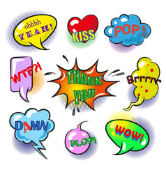 pop art speech bubbles with fashion phrases vector image