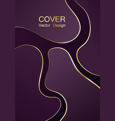 premium cover background with luxury fluid shapes vector image