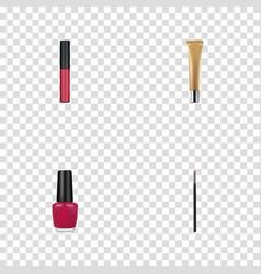 Realistic contour style kit liquid lipstick vector