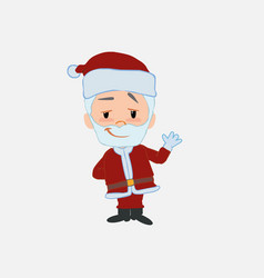 Santa claus waving with a dreamy expression vector