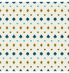 seamless background of card suits vector image