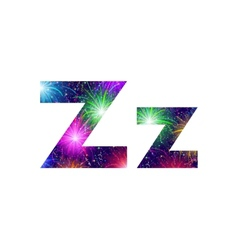 Set of letters firework Z vector