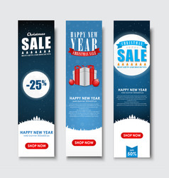 set of vertical banners for christmas sales vector image