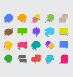 Speech bubble patch sticker icons set vector
