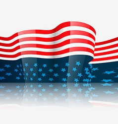 Stylish american independence day vector