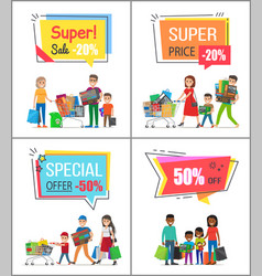 super sale with special offer for big purchases vector image
