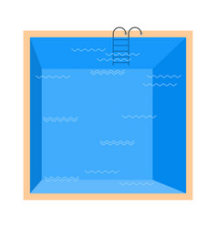 swimming pool top view isolated on white vector image