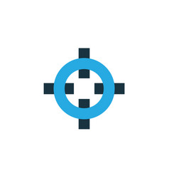Target colorful icon symbol premium quality vector