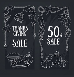 Thanksgiving banner with sale and discount vector