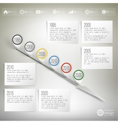 Timeline with pointer marks Infographic for vector image
