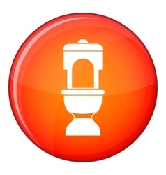 Toilet bowl icon flat style vector image